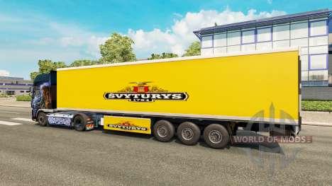 Скин Svyturys на полуприцеп для Euro Truck Simulator 2