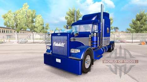 Скин Blue-gray на тягач Peterbilt 389 для American Truck Simulator