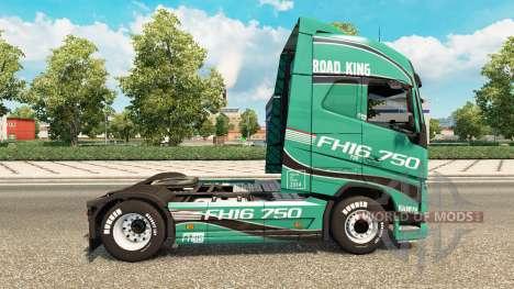Скин Road King на тягач Volvo для Euro Truck Simulator 2