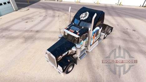 Скин Indian на тягач Kenworth W900 для American Truck Simulator