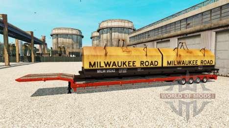 Полуприцепы с железнодорными составами v1.1 для Euro Truck Simulator 2