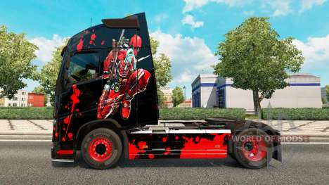 Скин DeadPool на тягач Volvo для Euro Truck Simulator 2