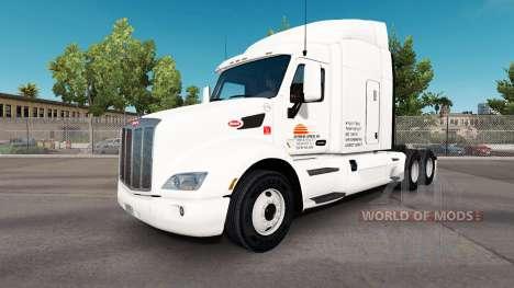 Скин Daybreak Express на тягач Peterbilt для American Truck Simulator