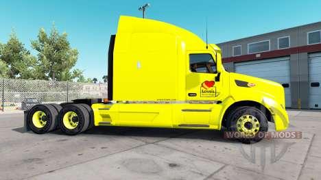 Скин Loves на тягачи Peterbilt и Kenworth для American Truck Simulator
