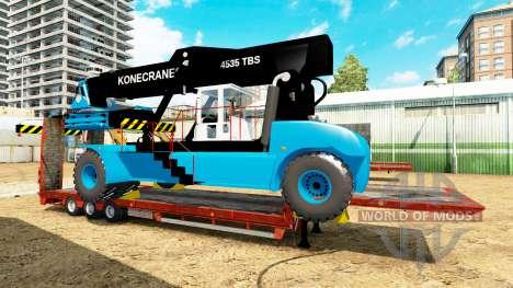 Низкорамный трал с погрузчиком Konecranes для Euro Truck Simulator 2