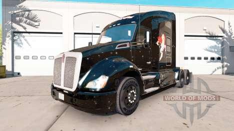 Скин Power Girl на тягач Kenworth для American Truck Simulator