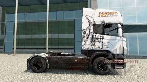 Скин Magic на тягач Scania для Euro Truck Simulator 2
