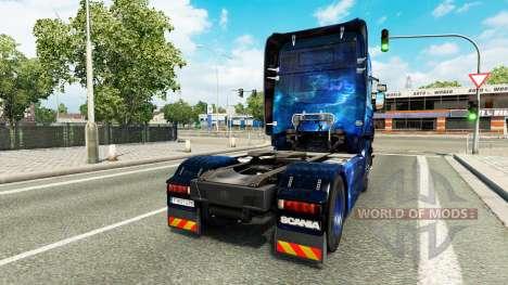 Скин Cool Space на тягач Scania для Euro Truck Simulator 2