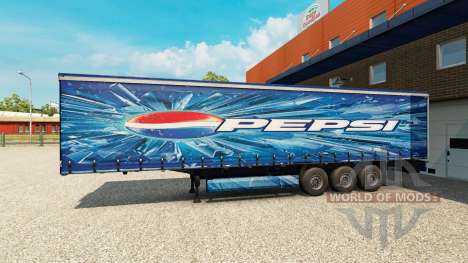 Скин Pepsi на полуприцеп для Euro Truck Simulator 2