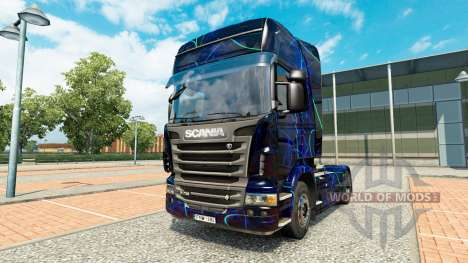 Скин Blue Smoke на тягач Scania для Euro Truck Simulator 2
