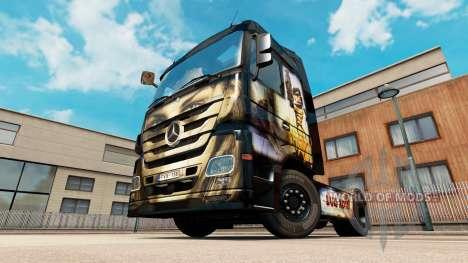 Скин Luis Royo на тягач Mercedes-Benz для Euro Truck Simulator 2