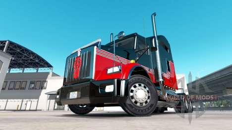 Скин Stripes v3.0 на тягач Kenworth T800 для American Truck Simulator