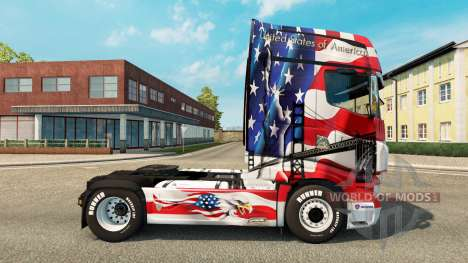 Скин USA на тягач Scania R700 для Euro Truck Simulator 2