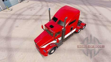 Скин Stripes v4.0 на тягач Kenworth T800 для American Truck Simulator
