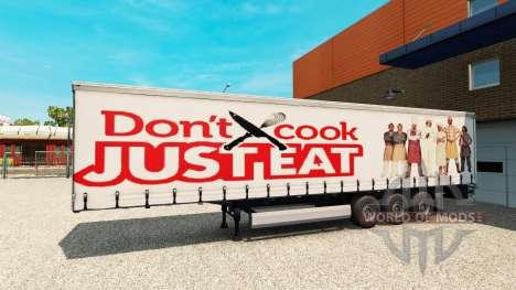 Скин Just Eat на полуприцеп для Euro Truck Simulator 2
