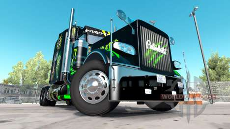 Скин Monster Energy на тягач Peterbilt 389 для American Truck Simulator