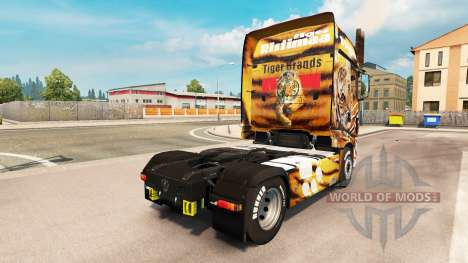 Скин Tiger на тягач Scania R700 для Euro Truck Simulator 2