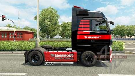 Скин Mammoet на тягач Mercedes-Benz для Euro Truck Simulator 2