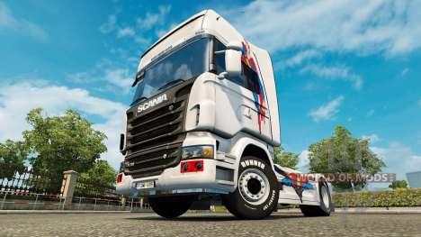 Скин Superman на тягач Scania для Euro Truck Simulator 2