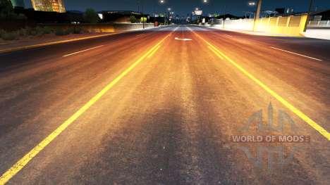 Золотисто-красный свет для American Truck Simulator