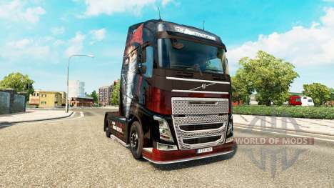 Скин Metallica на тягач Volvo для Euro Truck Simulator 2