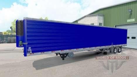 Рефрижераторный синий полуприцеп для American Truck Simulator