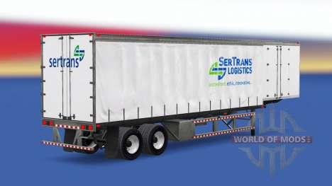 Скины на шторный полуприцеп для American Truck Simulator