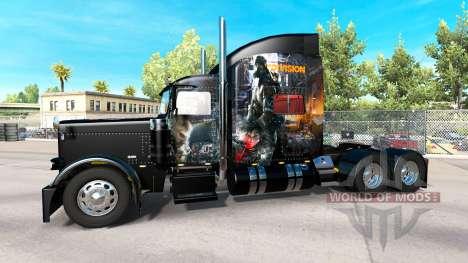 Скин The Division на тягач Peterbilt 389 для American Truck Simulator