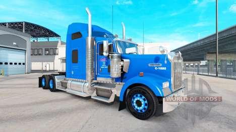 Скин Carlile на тягач Kenworth W900 для American Truck Simulator