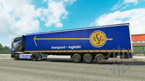 Скин ASG на полуприцеп для Euro Truck Simulator 2