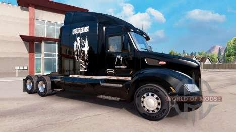 Скин Элвис Пресли на тягач Peterbilt для American Truck Simulator