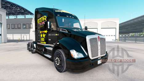 Скин Rockstar Energy на тягач Kenworth для American Truck Simulator