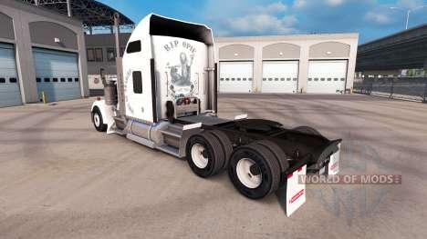 Скин Sons of anarchy на тягач Kenworth W900 для American Truck Simulator