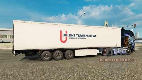Скин Uhlen Transport AS на полуприцеп для Euro Truck Simulator 2