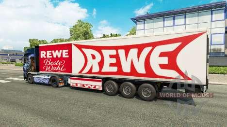 Скин Rewe на полуприцеп для Euro Truck Simulator 2