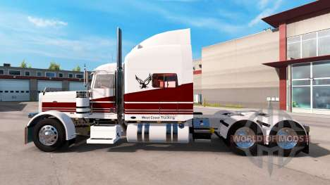 Скин West Coast на тягач Peterbilt 389 для American Truck Simulator