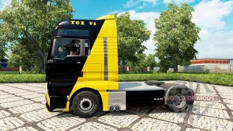 Скин V8 Power на тягач MAN для Euro Truck Simulator 2