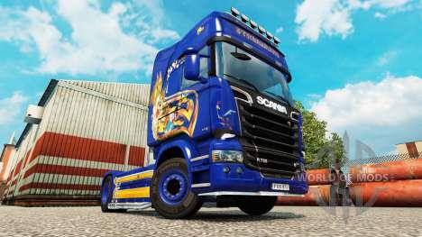 Скин Looney Tunes на тягач Scania для Euro Truck Simulator 2