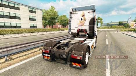 Скин Koi на тягач Renault для Euro Truck Simulator 2