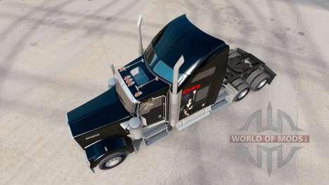 Скин Elvira на тягач Kenworth W900 для American Truck Simulator