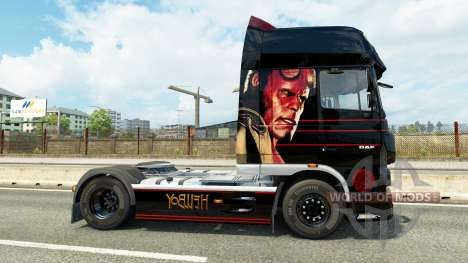 Скин Hellboy на тягач DAF для Euro Truck Simulator 2