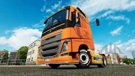 Скин Fanta на тягач Volvo для Euro Truck Simulator 2