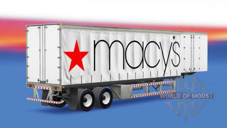 Скин Macys на полуприцеп для American Truck Simulator