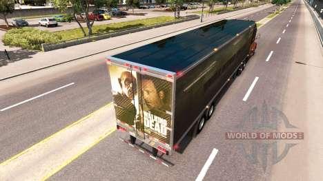 Скин Walking Dead на полуприцеп для American Truck Simulator