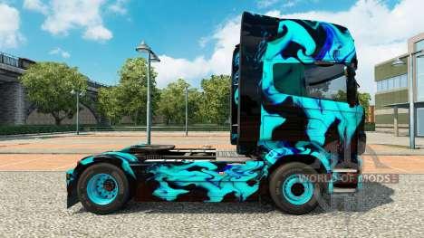 Скин Green Smoke на тягач Scania для Euro Truck Simulator 2
