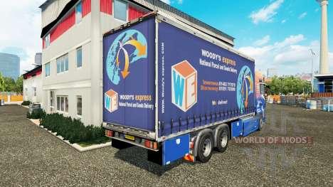 MAN TGS Woodys Express для Euro Truck Simulator 2