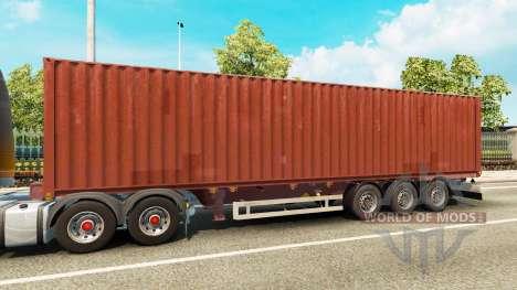 Полуприцеп-контейнеровоз для Euro Truck Simulator 2