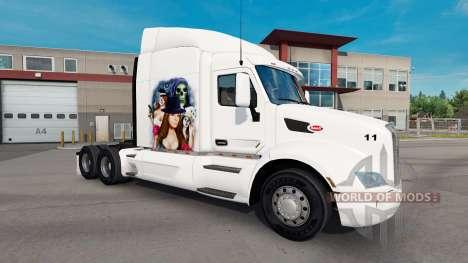 Скин Gangster Girl на тягач Peterbilt для American Truck Simulator