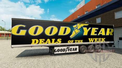 Скин Goodyear на полуприцеп для Euro Truck Simulator 2