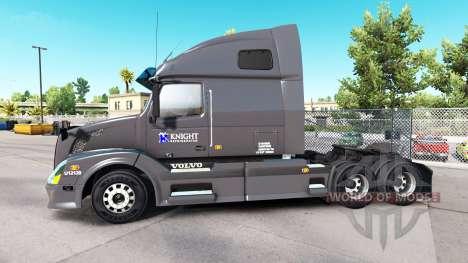 Скин Knight Refridgeration на тягач Volvo VNL670 для American Truck Simulator